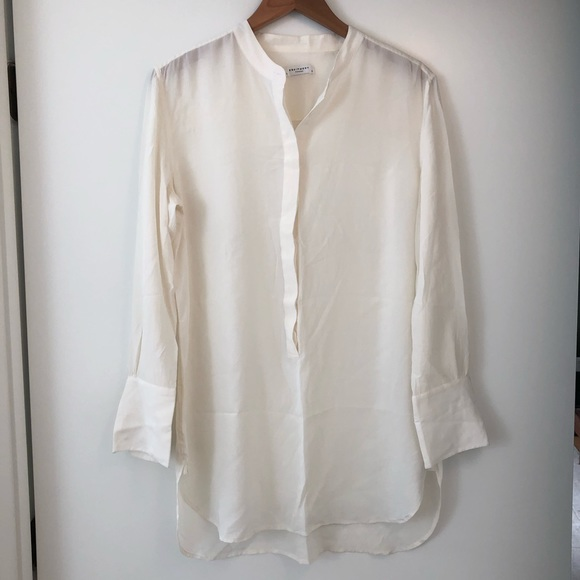 Equipment Tops - Equipment 100% Silk Long Sleeve Tunic Size L